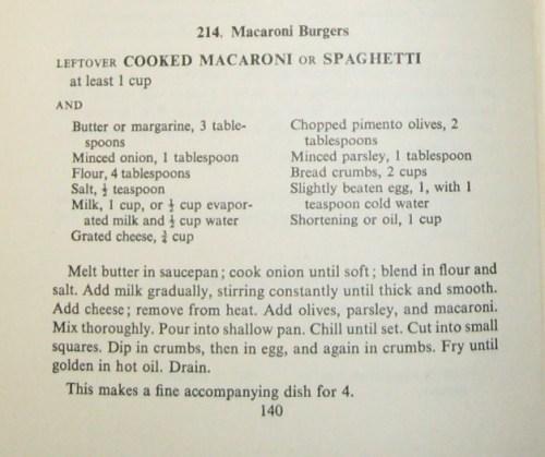 macaroni burgers recipe