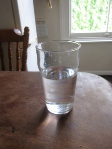 A half pint of water