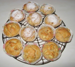 cooked apple muffins