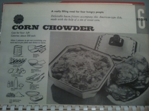 She Quickie cookbook corn chowder recipe