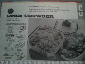 She Quickie cookbook corn chowder recipe