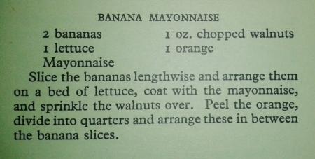Banana mayonnaise salad recipe