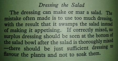 Dressing the salad Good Housekeeping cookery book 1950s