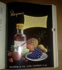 Rayne's flavourings bottle vintage ad