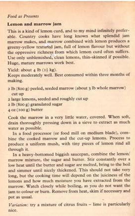 lemon and marrow jam recipe